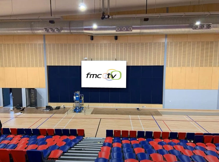 LED media wall for school halls and gyms