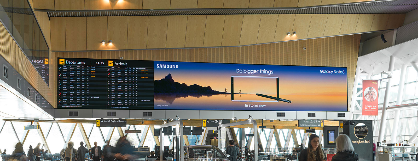 Wellington Airport LED information board